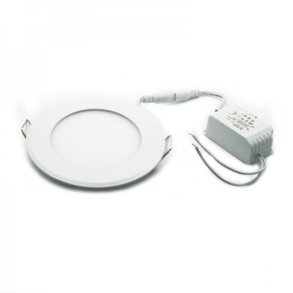 6W LED Plafonnier Rond blanc chaud + driver