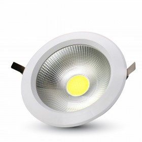 30W LED COB Downlight Reflector Blanc confort
