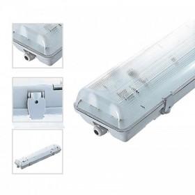Boitier étanche 1M50 pour 2 x tubes LED