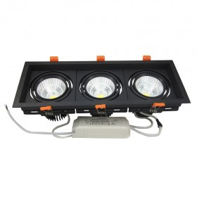 Downlight 3X10W Noir 4500K