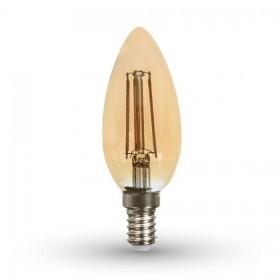 Ampoule LED E14 FILAMENT AMBRE 4 W