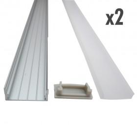 Profilé large 2 x 1 mètre inox
