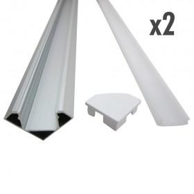 profilé d'angle 2 x 1 mètre inox
