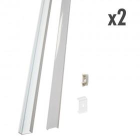 Profilé large 2 x 1 mètre blanc