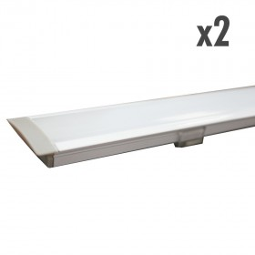 Profilé d'encastrement blanc 2 x 1 mètres
