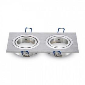 Spot double aluminium encastrable GU10 orientable