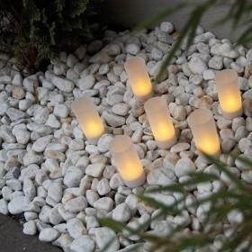 Pack de 12 bougies à led premium rechargeables couleur flamme