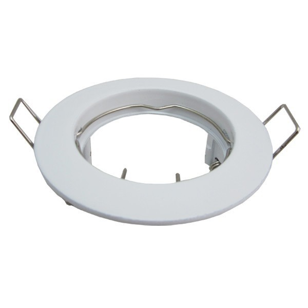 Support Spot Led Fixe Rond D77 Finition Blanc