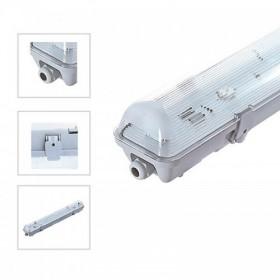 Boitier étanche 1M50 pour 1 tube LED