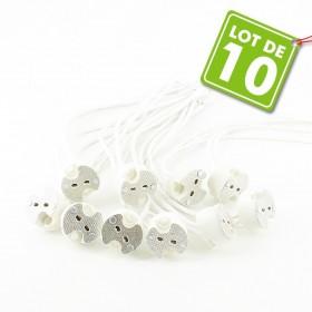 Lot de 10 Douilles MR16 GU5.3 Céramique