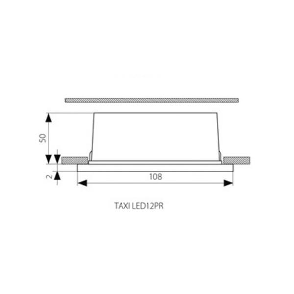 Applique Spot rectangulaire 220V TAXI encastrable Blanc Neutre IP54