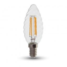 Ampoule led E14 4W Filament Twist Candle