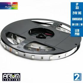 Rouleau de 5m PRO 24V 5050 30LED/M RGB IP33