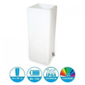 Pot de fleur Rectangle rechargeable 80cm