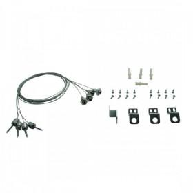 Kit de sécurité - 4 câbles pour fixation dalle