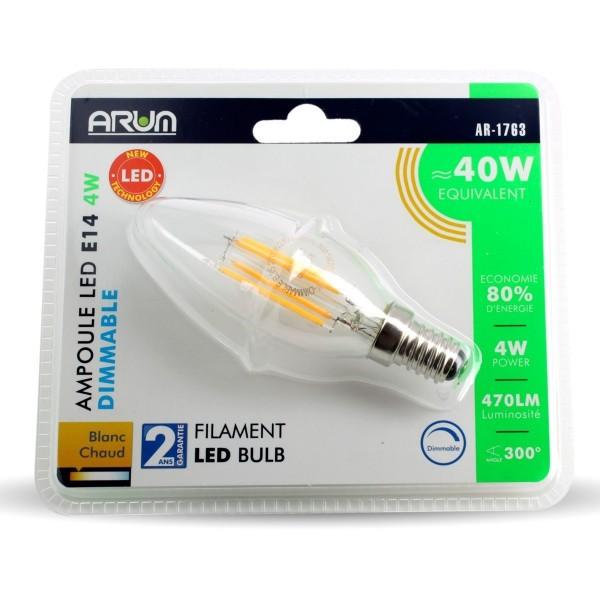 ampoule led e14 4w eq 40w dimmable. Black Bedroom Furniture Sets. Home Design Ideas