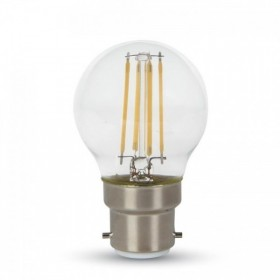 Ampoule LED 4W B22 LED G45 Blanc chaud