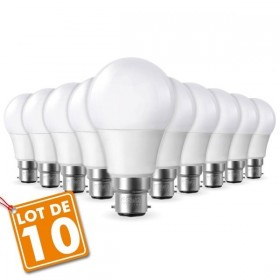 Lot de 10 Ampoules LED B22 9W