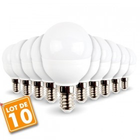 Lot de 10 ampoules E14 Mini Globe 5.5W 470 lumens Eq 40W