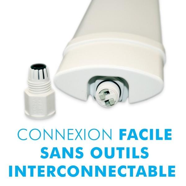 Lot de 10 Reglettes Interconnectables LED Etanche
