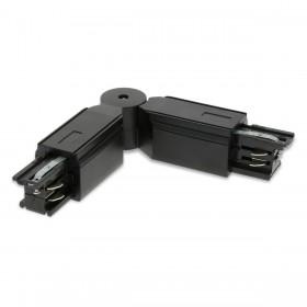 Connecteur en L Noir pour systeme Rail 4 Wires