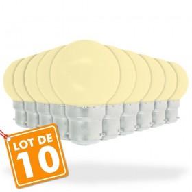 Lot de 10 Ampoules B22 1W Blanc chaud
