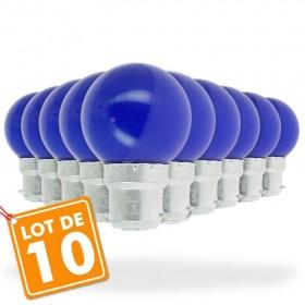 Lot de 10 B22 Bleu