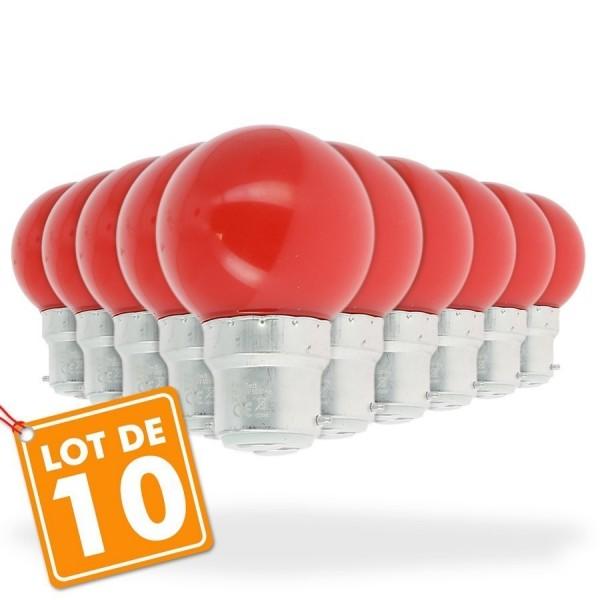 Wattéquivalent Ampoules De Guinguette 1 Lot Led Rouge À WattGuirlande 10 BroCeWdx