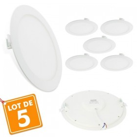 Lot de 5 Spots Encastrables LED Extra-Plat 18W