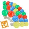 Lot de 24 Ampoules B22 Guirlande guinguette