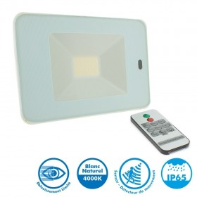 Projecteur LED 30W Blanc Détecteur de Mouvement