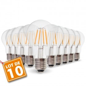 Lot de 10 Ampoules E27 4W Filament eq. 40W
