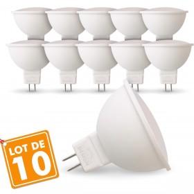Lot de 10 Ampoules LED GU5.3 MR16