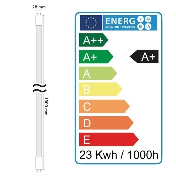 LED Tube T8 23W 150 cm connexion latérale