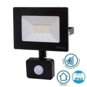 Projecteur LED 20W Noir détecteur de mouvement IP44