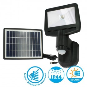 Projecteur solaire à détection 850 Lumens Eq 70W