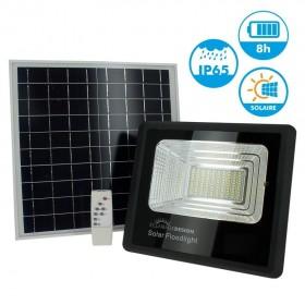 Projecteur Solaire 40W avec son Panneau Solaire et Télécommande 6400K
