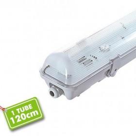 Boitier IP65 1M20 pour 1 tube LED