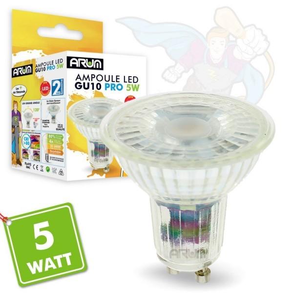 Ampoules LED GU10 5W PRO 420 Lm Equiv 50W