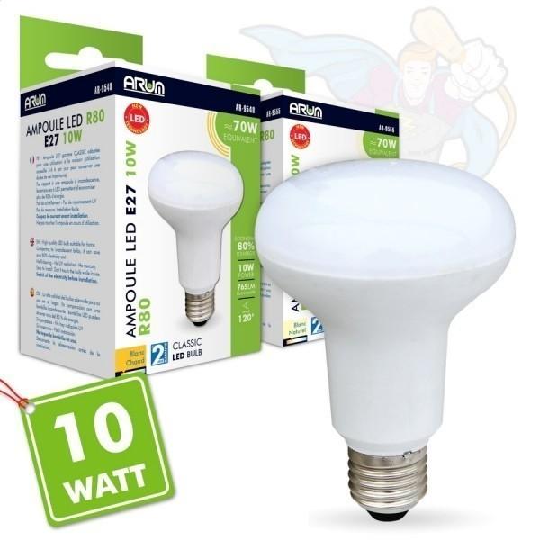 Ampoule LED E27 10W R80