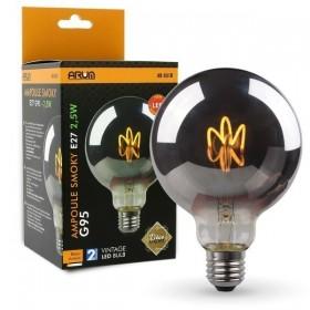 Ampoule LED E27 G95 Smoky Filament Déco Vintage