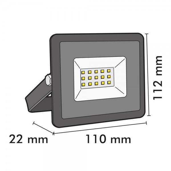 Projecteur LED ATRIA 10W Noir IP65 Extérieur
