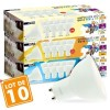 Lot de 10 ampoules LED GU10 7W eq 60W