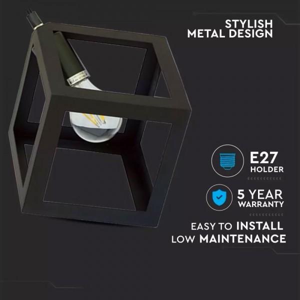 Suspension intérieur CANOPY E27 Noir mat