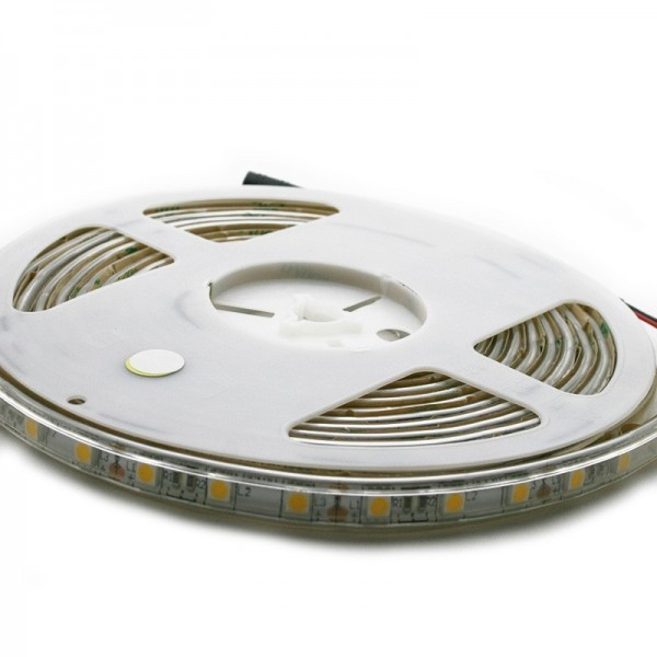 Strip LED 5Mètres SMD5050 - 60LEDs Blanc Chaud IP65