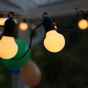 Guirlande fête avec crochet blanc chaud